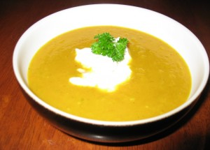 Curry Apple Sweet Potato Soup (Whip It Up Wednesday)