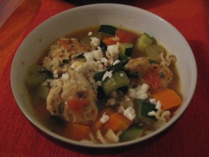 Whip It Up Wednesday! – Herb Chicken Meatball Minestrone