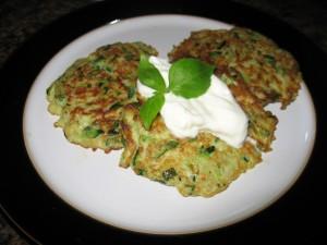Zucchini & Oat Bran Fritters