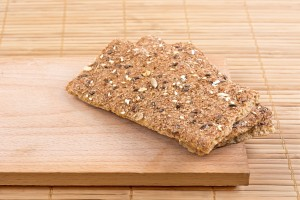 Crispbread with seeds.