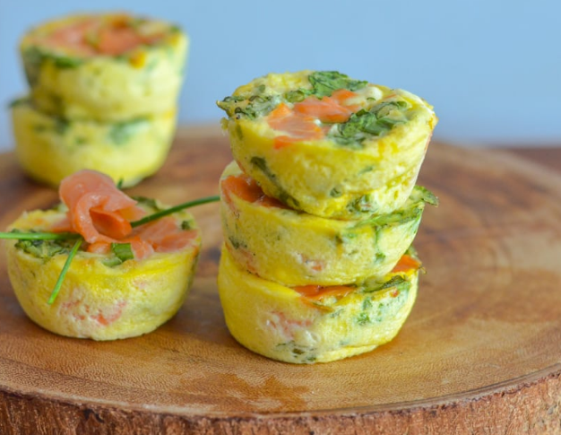 Smoked Salmon Mini Frittatas