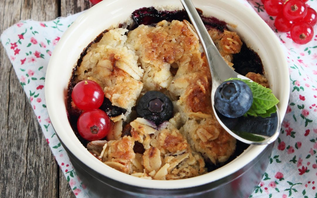 Baked Lemon Blueberry Oatmeal