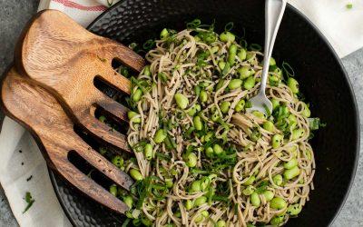 Sesame Soba Noodle Bowl with Edamame